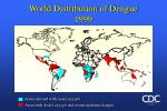 world distribution of dengue 1999
