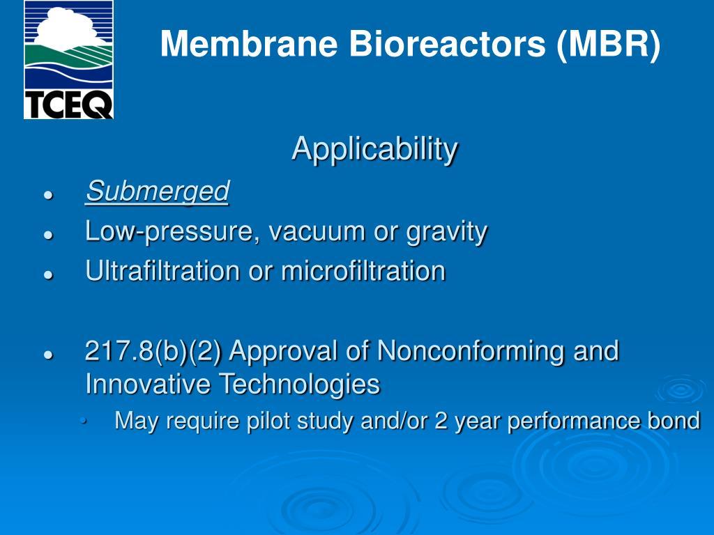 Membrane Bioreactors (MBR)