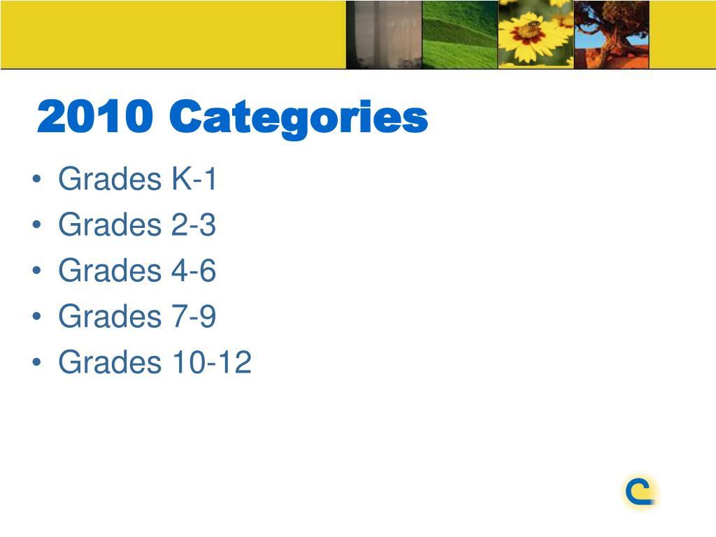 2010 Categories