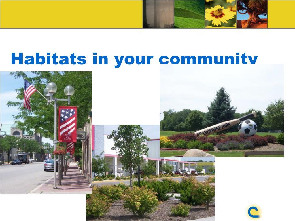 Habitats in your community