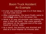 boom truck accident an example