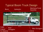 typical boom truck design
