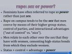 rape sex or power