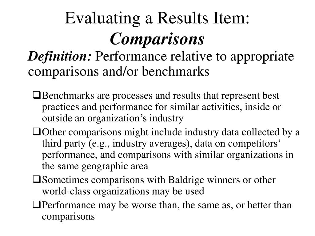 Evaluating a Results Item:
