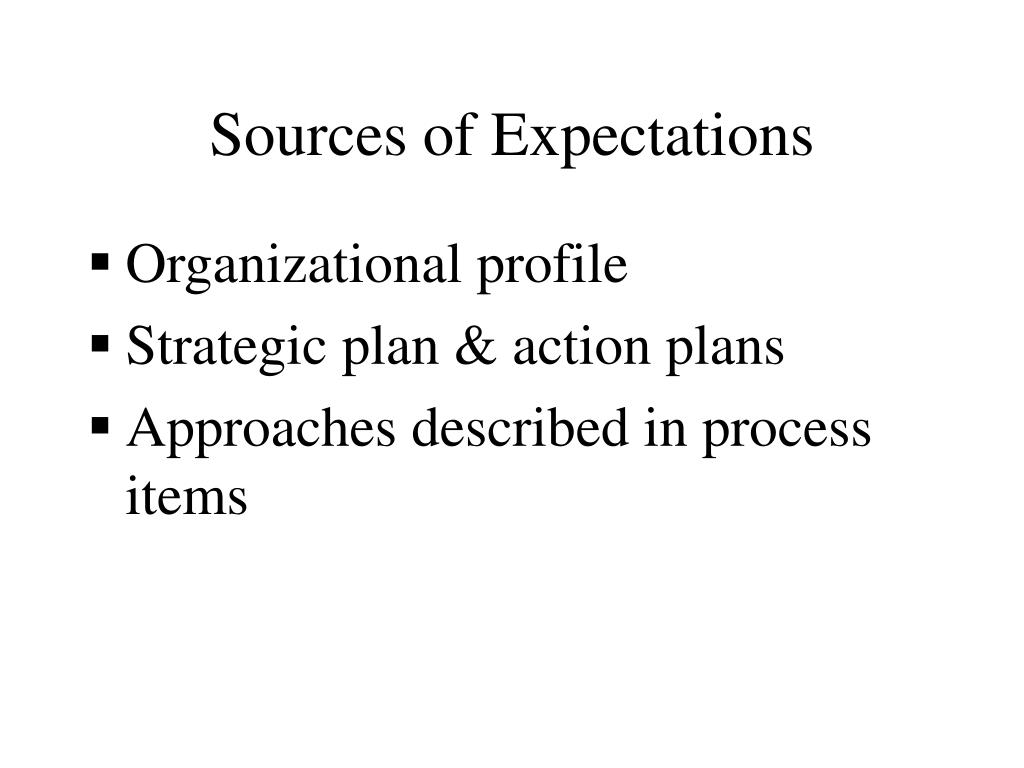 Sources of Expectations