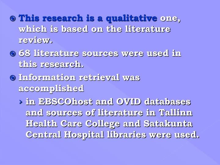 This research is a qualitative