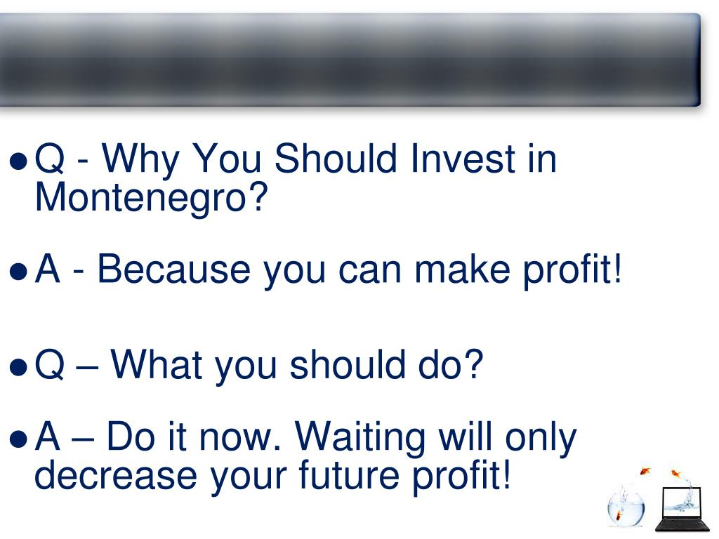 Q - Why You Should Invest in Montenegro?