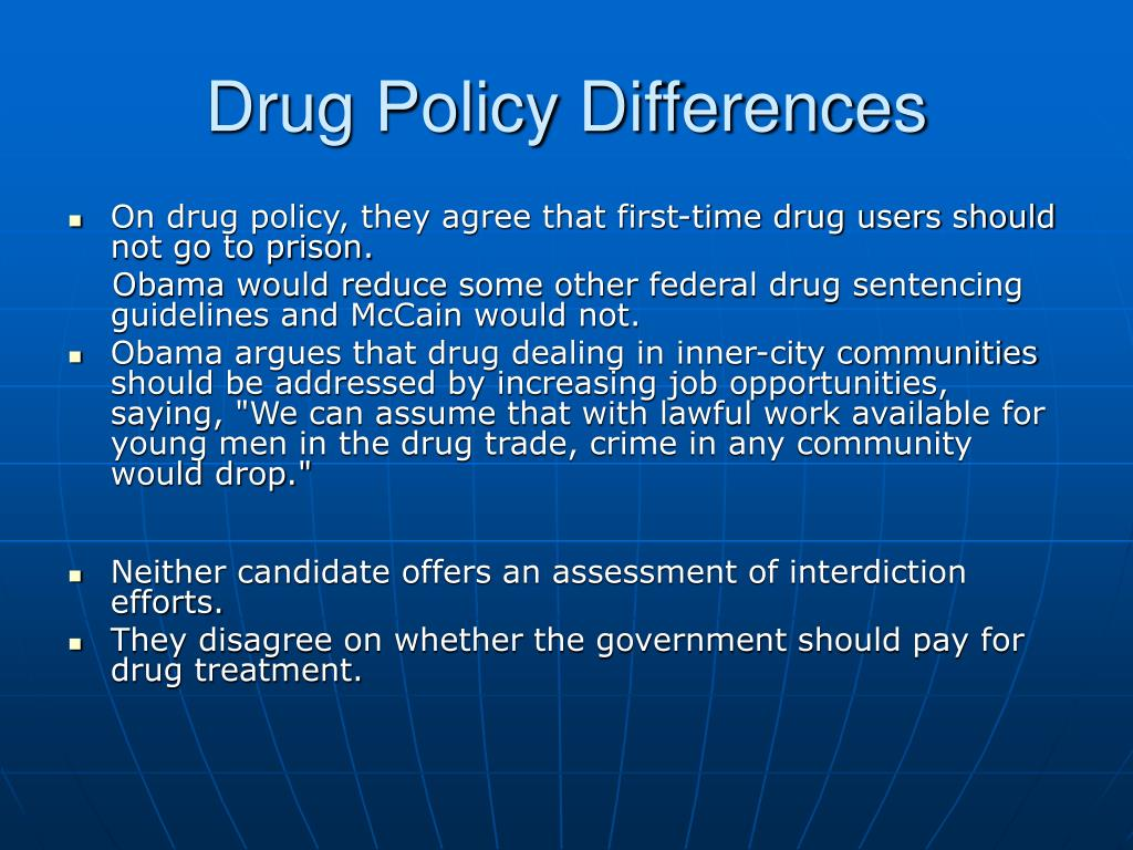 Drug Policy Differences
