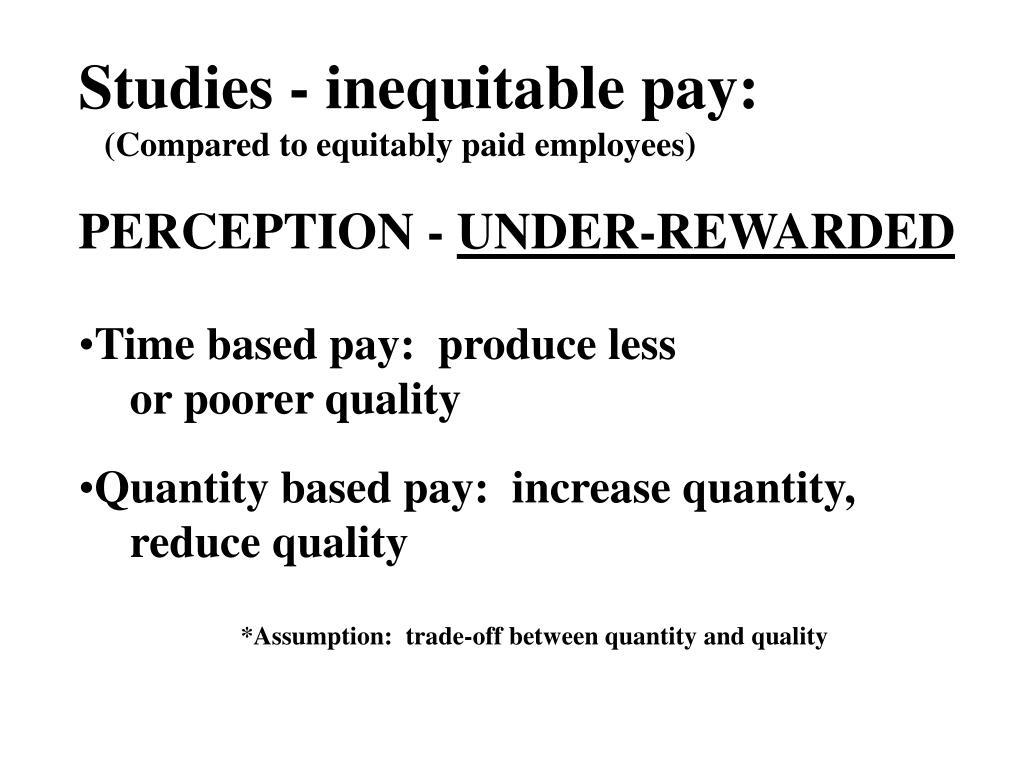 Studies - inequitable pay: