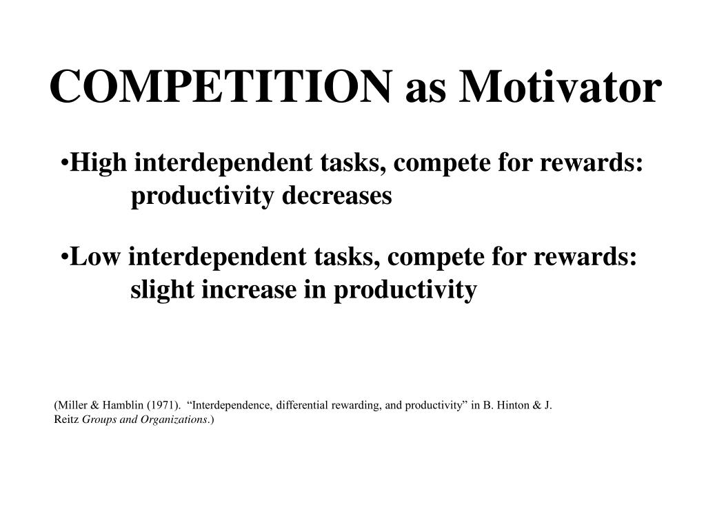 COMPETITION as Motivator