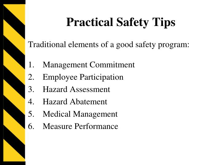 Practical Safety Tips