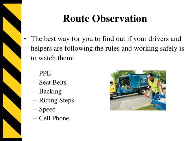 Route Observation