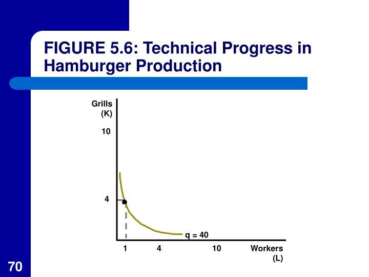 FIGURE 5.6: Technical Progress in Hamburger Production