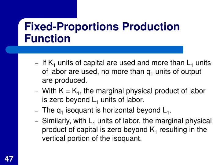 Fixed-Proportions Production Function
