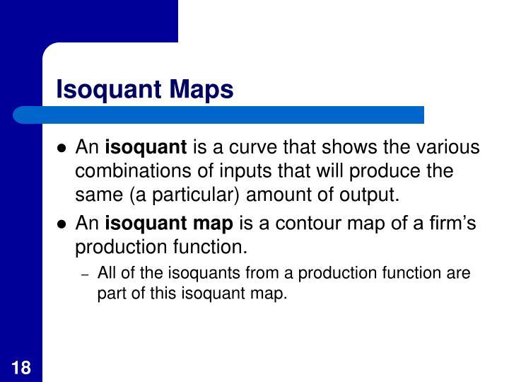 Isoquant Maps