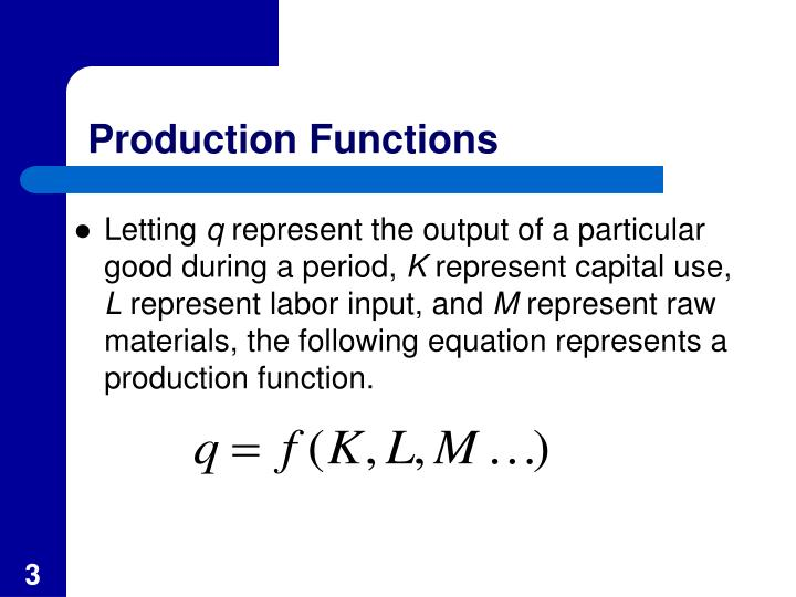 Production functions1