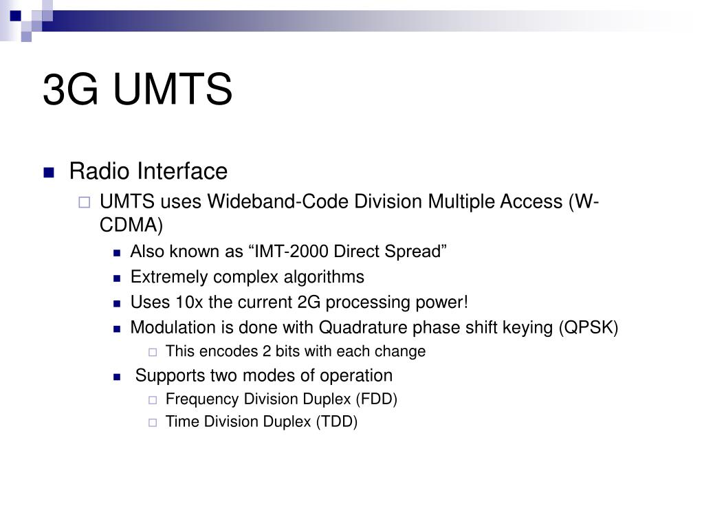 3G UMTS