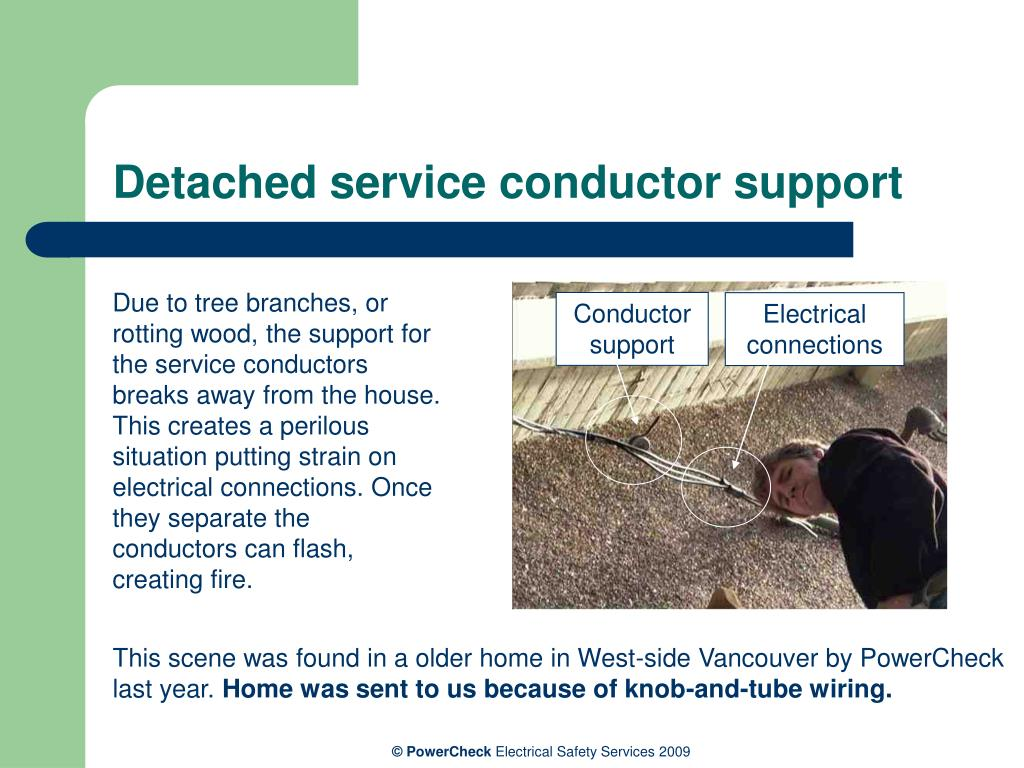 Detached service conductor support