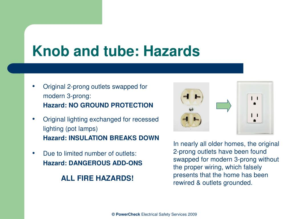 Knob and tube: Hazards