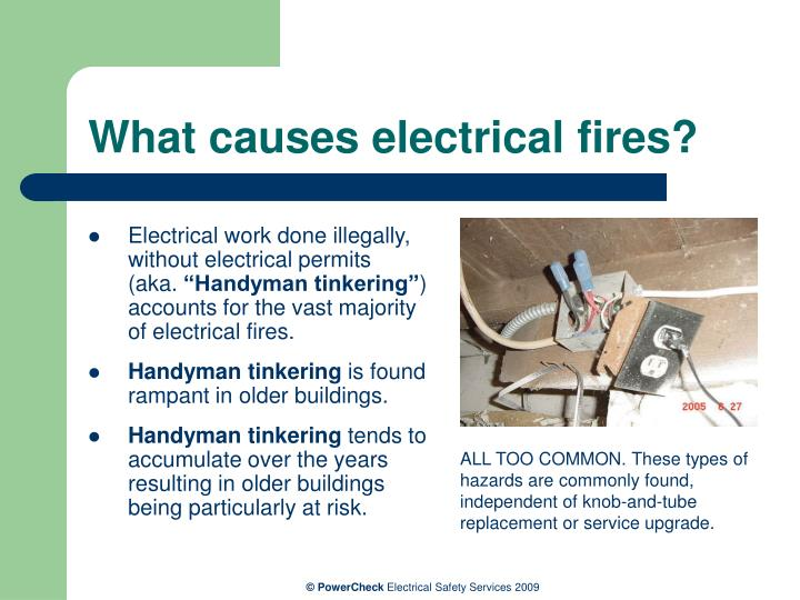 What causes electrical fires