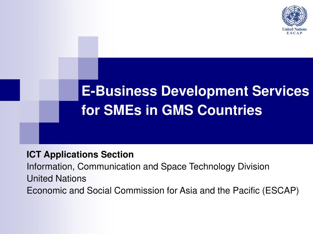 e business development services for smes in gms countries l.