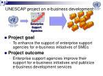 unescap project on e business development