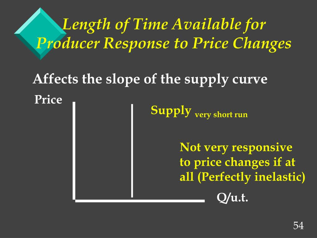 Length of Time Available for Producer Response to Price Changes