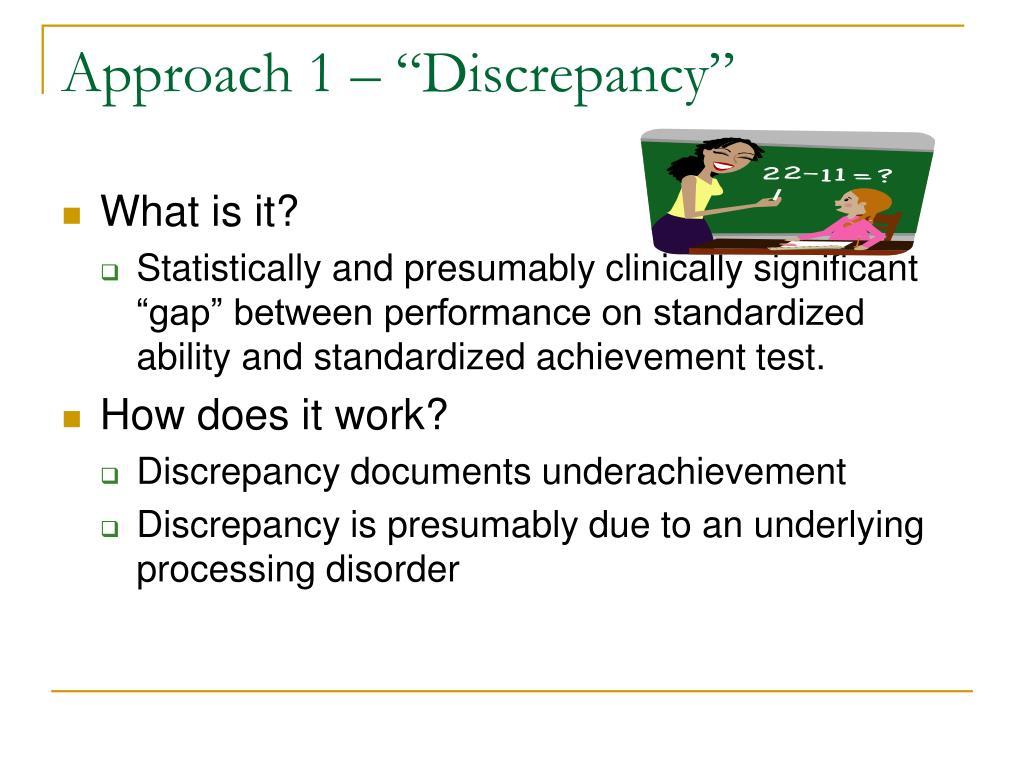 "Approach 1 – ""Discrepancy"""