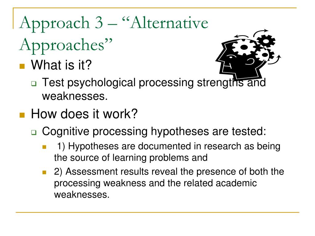 "Approach 3 – ""Alternative Approaches"""