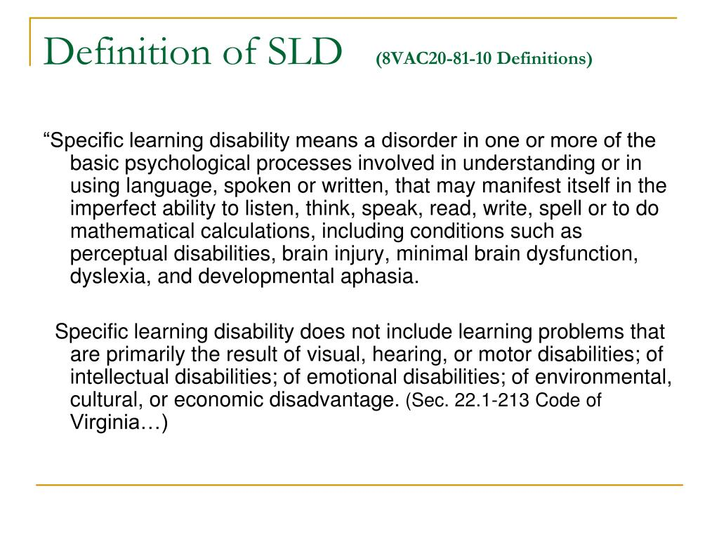 Definition of SLD