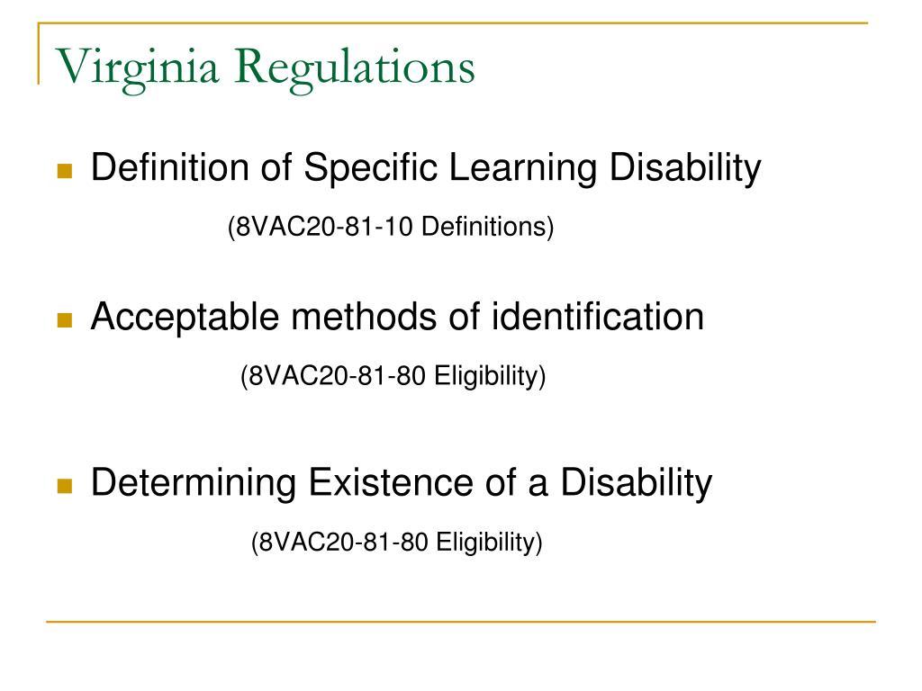 Virginia Regulations