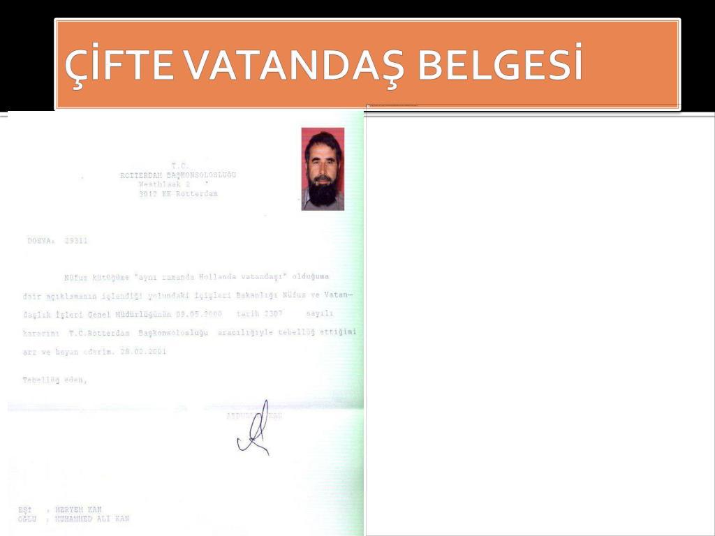 ÇİFTE VATANDAŞ BELGESİ