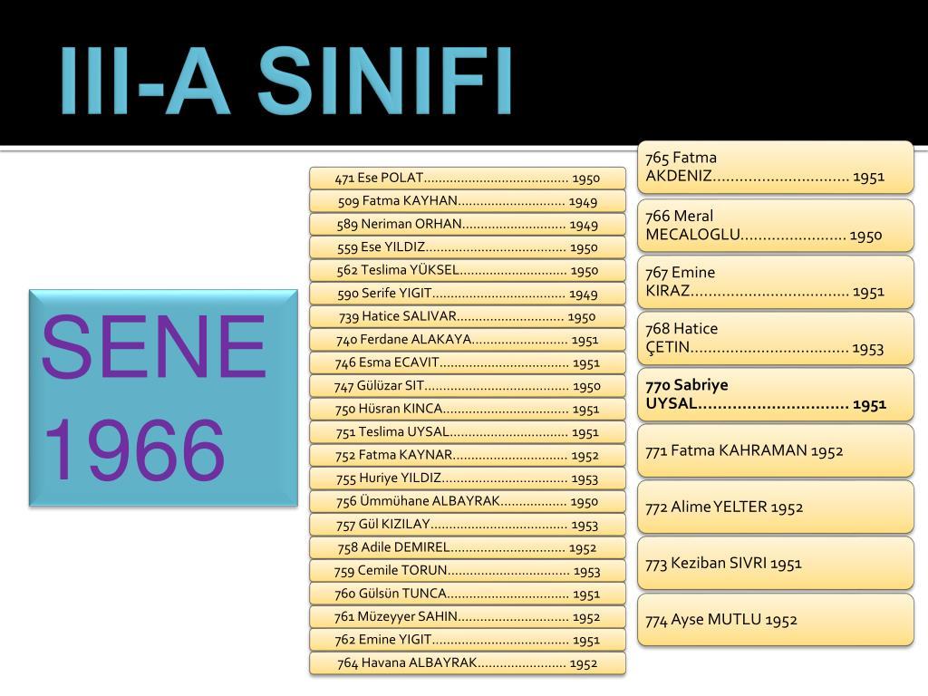 III-A SINIFI