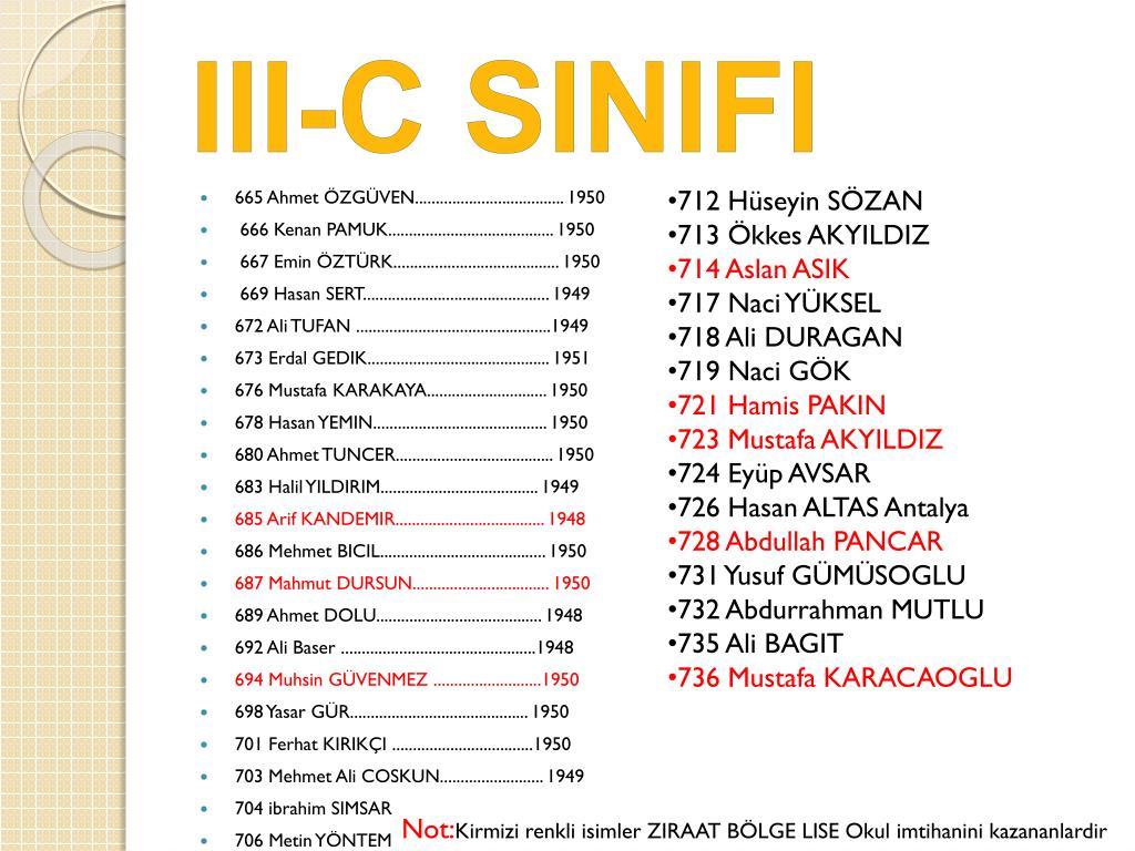 III-C SINIFI