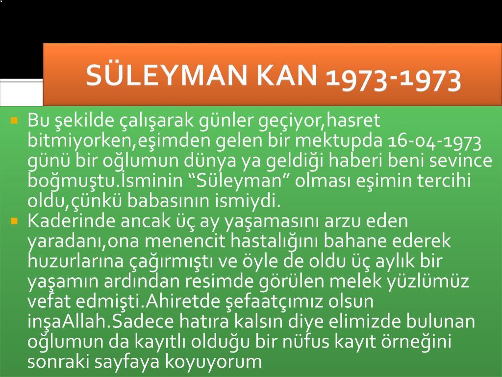 SÜLEYMAN KAN 1973-