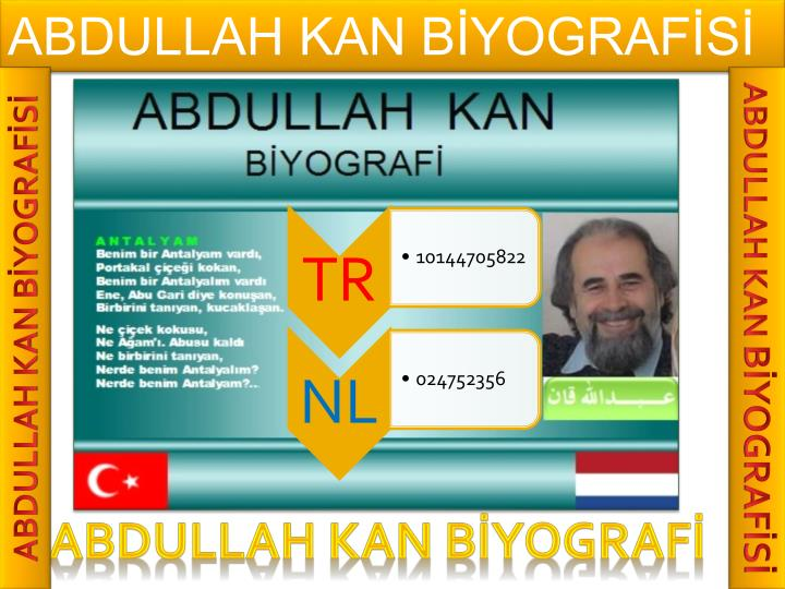 ABDULLAH KAN BİYOGRAFİSİ