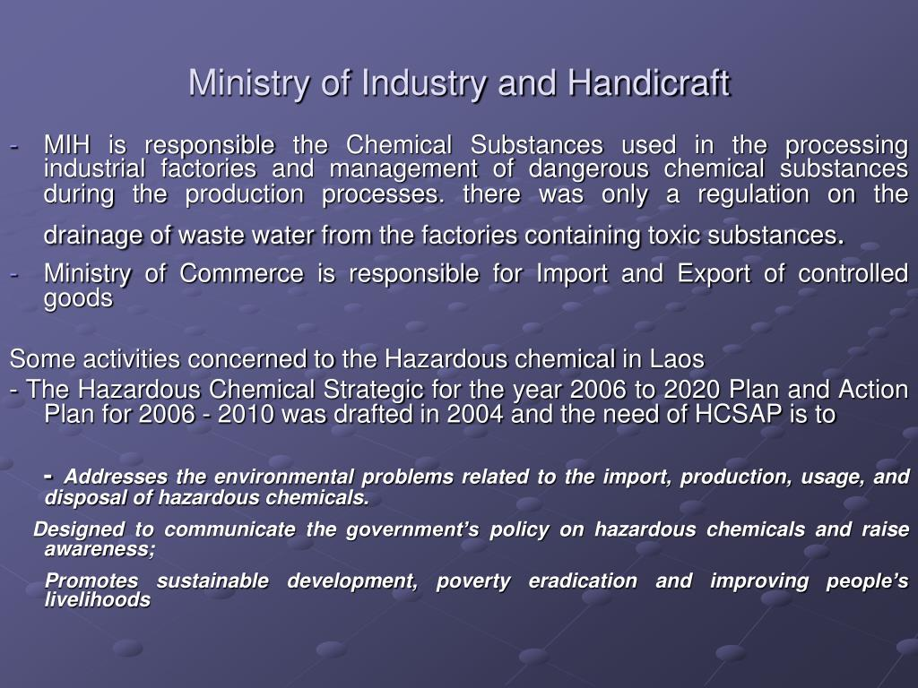 Ministry of Industry and Handicraft