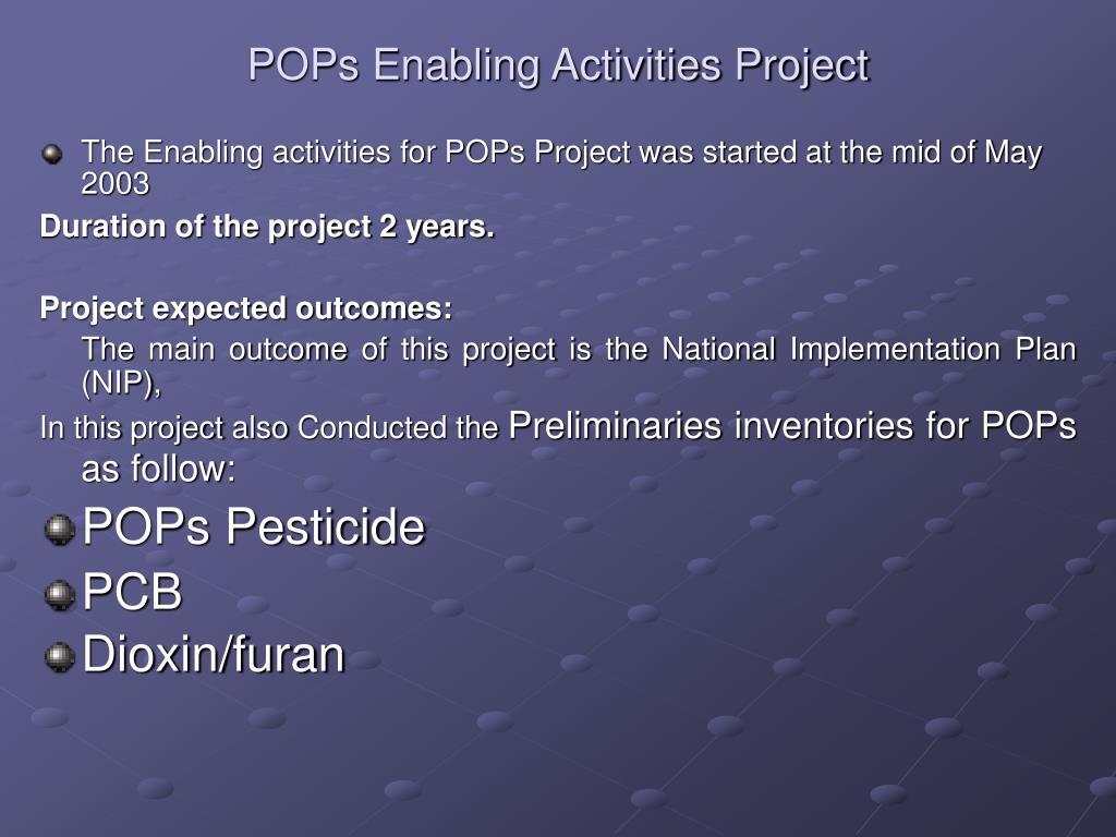 POPs Enabling Activities Project