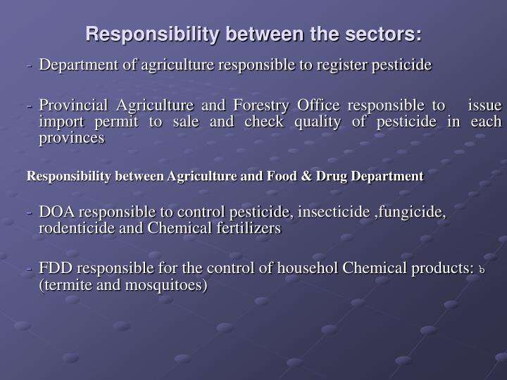 Responsibility between the sectors