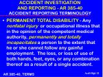 accident investigation and reporting ar 385 40 accident reporting terminology