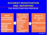 accident investigation and reporting the investigation process