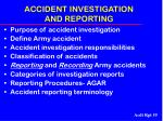 accident investigation and reporting55