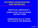 accident investigation and reporting57