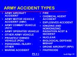 army accident types