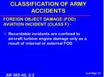 classification of army accidents34