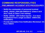 command responsibilities preliminary accident site procedures39