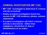 criminal investigation mp cid