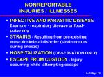 nonreportable injuries illnesses25