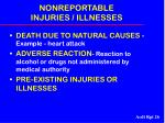 nonreportable injuries illnesses26