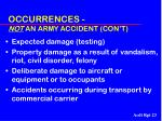 occurrences not an army accident con t